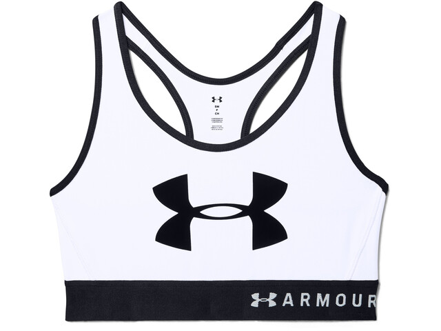 Under Armour Armour Graphic Mid Keyhole Bra Women, wit/zwart